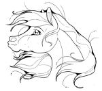 mare portrait lineart - arab by Spiderwick19