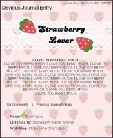 PINK Strawberry Free Journal by chat-noir