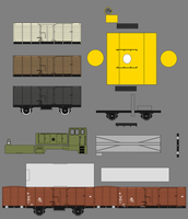 Papercraft Modeltrains - Not finished by Pullerwhip