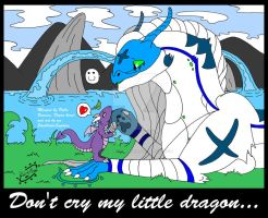 Don't cry my little dragon... by SkulblakaSaphira