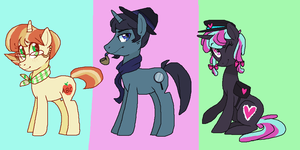 Pony adoptables! - Unicorns [CLOSED] by PONYPUKE