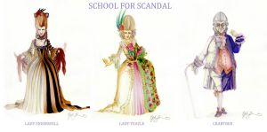 LINE UP: School for Scandal by GwynConawayArt