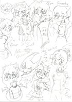 OC scribbles by Kittychan2005