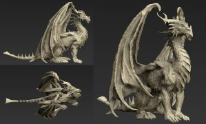 Dragon sculpt by gugu-troll