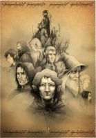 Heroes of the Middle Earth (Tolkien tribute) by Neddea