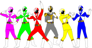 Lightspeed Rescue with In Space Poses by rangeranime