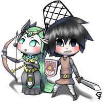 Wind waker Ropii and Tetraetta! by ssbkid