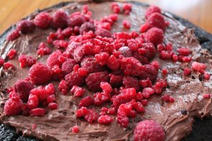 Raspberry Chocolate Cake... by RevoltingChaos