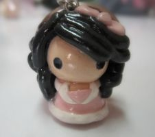 Polymer Clay Chibi Pastel Girl by MaxxeneStacey