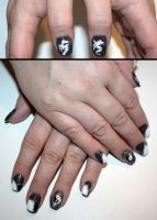 Year of the Dragon Nail Art by elvaniel