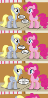 Derpy Tells A Joke by Faikie