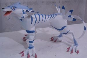 Papermodell: Garurumon by WhiteRoo