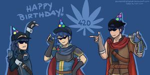 Blazing Emblem: THE 420 CREW by theunspokenprophet
