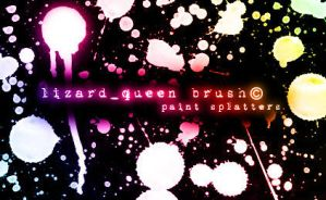 Paint Splatters by lizard--queen