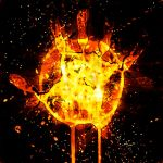 Hand on fire by AlyOh