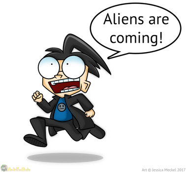 Aliens Are Coming by MeckelFoxStudio