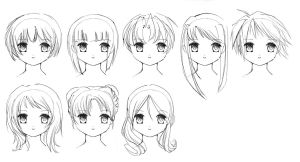 Hairstyles by Nat-chan
