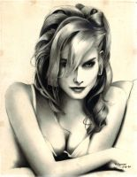 charcoal portrait by clarenceangelo