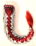 Frost, Red, and Champagne Dragon Tail by SerenFey