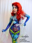 Scariel Little Merm Prosthetics demo bodypaint whi by Bodypaintingbycatdot
