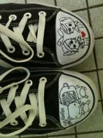 i draw on my shoes by forevernotsinking99