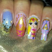 Princess Zelda nail art by amanda04