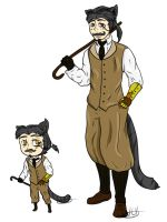 Cat Gentleman Adopt by HollowThinker