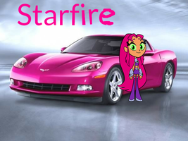 pink car for starfire by Jwricetoons
