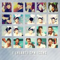 Icon pack 3: I heart 2PM by kimbopeep