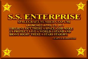 Enterprise Dedication Plaque by CaptainBarringer