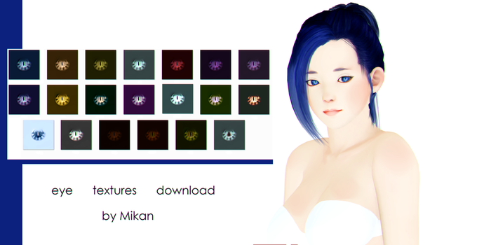 [MMD DOWNLOAD] M1M2M3 eye textures by NaoreMotuo