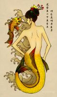 Koi-Fish-Mermaid by FrauV8