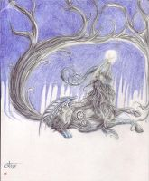+ I Am time in the woods + by ShePaintsWithBlood