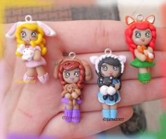 Necklaces with dolls and your pets animals by Elfetta2007
