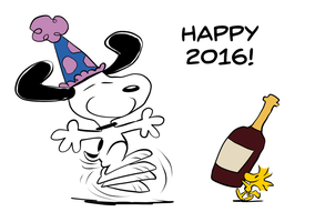 A Snoopy New Year by JoeyWaggoner