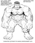 Inking Practice: Hulk after Arthur Adams (NFS) by Bright-Raven