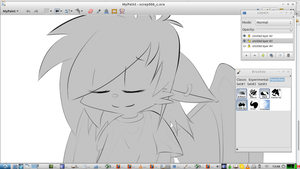 WIP: anthro teen with wings by GaussianCat