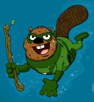 THE MIGHTY BEAVER by striffle
