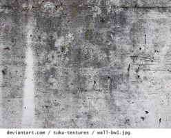 Wall in black and white by tuku-textures
