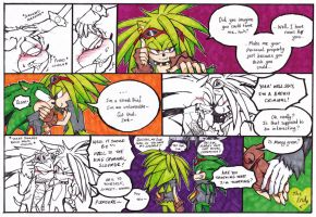 Manic and Scourge-mini comic Rematch Final by DawnHedgehog555