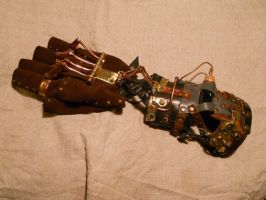 A steampunk glove - remake by ChanceZero