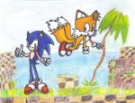 Sonic and Tails by AlliCali