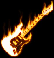 Guitar on Fire by wallaberto
