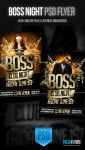 Boss Night PSD Party Flyer Templates by ImperialFlyers