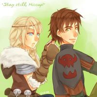 Stay Still, Hiccup! by DiWine-Waro