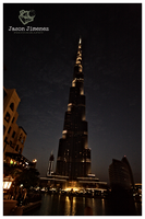 Burj Khalifa night shot by toolboxxx