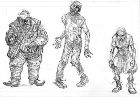 Zombies Commission Pencils by Alan-Gallo