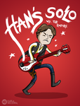 han solo vs the empire - star wars fan art by karlyb-illustration