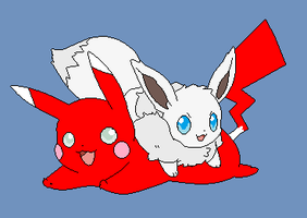 Me And Gem As Our Pokemon by V1EWT1FUL