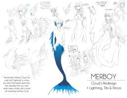 + Merboy redesign + by Bunny-Boss